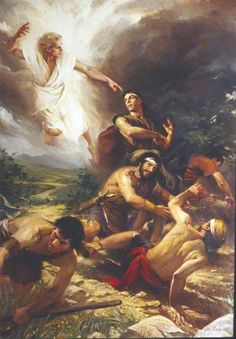 Book of Mormon  Angel Appears to Alma and the Sons of Mosiah - Mosiah 27:8–37; 12:17–37; Alma 36:3–24