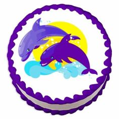 8 Round ~ Dolphins Birthday ~ Edible Image Cake/Cupcake Topper!!! ** Insider's special review that you can't miss. Read more :  : baking decorations