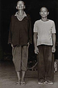 Mental PATIENTS at Long Fa Tang Temple. Kaohsiung, Taiwan. 1998 Chien Chi-Chang