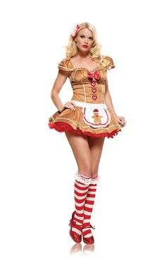 Gingerbread Adult Costume #sexy womens costumes #sexy halloween costumes