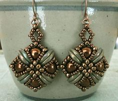 Linda's Crafty Inspirations: Tara Earrings - Chocolate Bronze