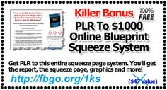 Get PLR To $1K Online Blueprint Squeeze System For Free
