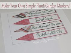 How to make waterproof plant markers