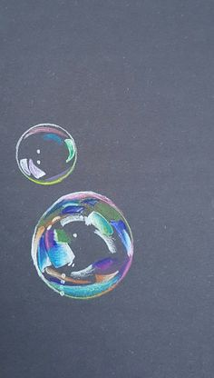 7th grade colored pencil bubbles Art Ed Central Wooley