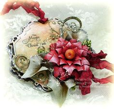 Spellbinders Layered Poinsettia, Jewel Flowers and Flourishes and Decorative Labels Twenty-Seven