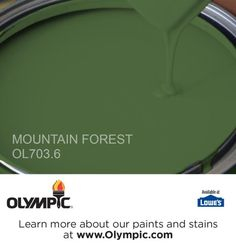 MOUNTAIN FOREST OL703.6 is a part of the greens collection by Olympic® Paint.