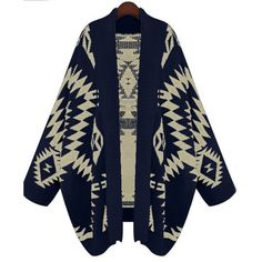 Tribal Belle Cardigan ($28) ❤ liked on Polyvore featuring tops, cardigans, jackets, sweaters, outerwear, geo cardigan, tribal cardigan, geometric cardigan, blue top and tribal print cardigan