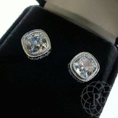 "SS Crystal Stud Earrings Stunning Sterling Silver Crystal Stud Earrings.  ▪ 3/8"" inches in diameter ▪ 925 Sterling ▪ Original Black Velvet Box  Brand New w/o Tag    All Sales Final 