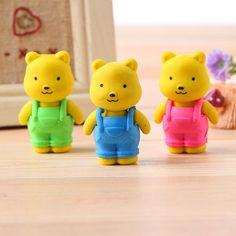 Cute Bear Erasers Animal Rubbers