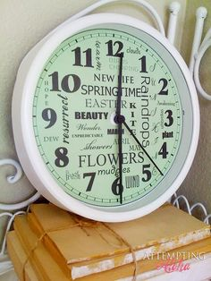 DIY clock repurposing - easy and cheap for Christmas gifts for guys!