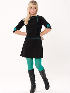 Amelie Kleid, schwarz