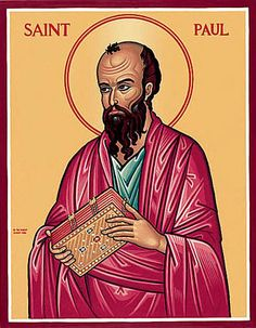 """Paul (Apostle to the Gentiles, mystic, martyr, theologian and missionary) Patronage: public relations; against snakebites; tentmakers Name meaning: """"Little"""" One of t Catholic Religion, Catholic Saints, Patron Saints, Catholic Art, Religious Images, Religious Icons, Monastery Icons, Paul The Apostle, San Pablo"""