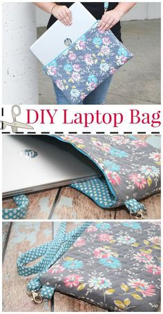 Sewing Patterns Get ready for back-to-school with this easy DIY Laptop Bag craft! Your student will love carrying around this stylish bag. Create this project in time for them to go back to school. - Make your own DIY Laptop Bag with this easy tutorial! Sewing Hacks, Sewing Tutorials, Sewing Crafts, Sewing Tips, Sewing Ideas, Sewing Basics, Dress Tutorials, Sewing Patterns Free, Free Sewing