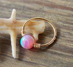Opal Knorpel Ohrring Helix Ohrring Tragus von mypiercingshop