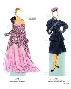 French Fashion Designers Paper Dolls 1900-1950 - Yakira Chandrani - Picasa Web Albums