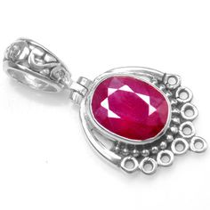 925 Sterling silver Natural Top Ruby Pendant Oval Shape design Jewelry svp0810 $ #Unbranded