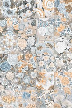 VODEVIL: Flore Gris - 20x20cm. | Pavimento - Porcelánico | VIVES Azulejos y Gres S.A. #tile #floor #design azulejos hidraulicos http://www.vivesceramica.com/es/productos/pavimento/porcelanico/serie/pieza.html?sid=608&pid=4P03