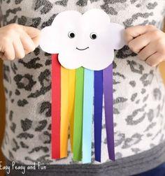 Szivárványos esőfelhő papírból - kreatív ötlet gyerekeknek / Mindy -  kreatív ötletek és dekorációk minden napra
