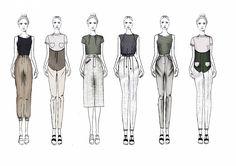Fashion Sketchbook - fashion illustrations; line up; fashion portfolio // Charlotte Deville