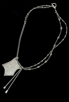 Vintage and Hand Forged Metal Necklace by ivylynnrobinson on Etsy, $85.00