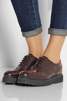 Church's ~  Indigo brogue leather creepers