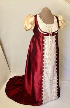 Regency Dress Jane Austen Dress Wedding Dress Wedding Gown, Regency #6, CUSTOM ORDERS ONLY!