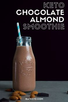 Chocolate Almond Butter Keto Breakfast Shake A quick, indulgent keto breakfast smoothie. Cacao, almond butter and coconut oil combine for a nutrient dense fat bomb smoothie. Nutribullet keto smoothies are my go to breakfast or post workout drink! Keto Breakfast Smoothie, Keto Smoothie Recipes, Healthy Smoothies, Breakfast Recipes, Breakfast Ideas, Diet Breakfast, Quick Keto Breakfast, Ketogenic Breakfast, Vegetable Smoothies