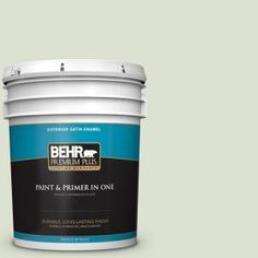 BEHR Premium Plus 5-gal. #M380-1 Cavan Satin Enamel Exterior Paint 905005 at The Home Depot - Mobile