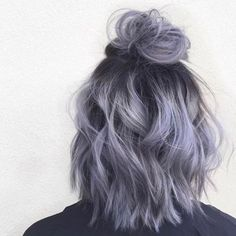 35 Short Ombre Hair Color Ideas for Brunettes That Are Trending for Short Ombre Hair Are you looking for short hair ombre? Then these 35 short ombre hair color ideas for brunettes that are trending for 2019 will be yo. Short Hair Updo, Short Hair Styles, Wavy Updo, Short Dyed Hair, Short Hair Top Knot, Silver Hair Styles, Short Hair For Girls, Messy Bun For Short Hair, Fancy Ponytail