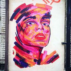 By @manyoly #manyoly #streetart #graffiti #graff #spray #bombing #wall #urbanart #graffitiwall #urbanwalls #graffart  Cité des Grisets #paris