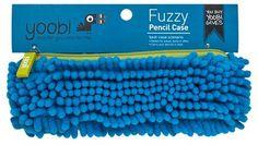 YoobiTM Fuzzy Pencil Case - Blue/Green