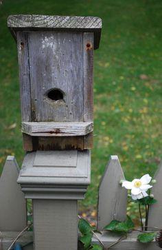 fence post bird house