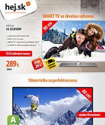 Chceli by ste televízor so zľavou až 37 % a dopravou zadarmo?