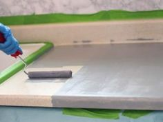 How to Paint Laminate Countertops to Look Like Stone | DIY