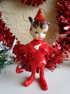 """GOOD CONDITION AND WILL ONLY GROW IN VALUE AND COLLECTABILTY. THIS IS A MUST HAVE ELF/DEVIL TO HAVE FOR COLLECTORS. MEASURES APPROX: 4 3/4"""" TALL BY 2 3/4"""" LONG.   eBay!"""