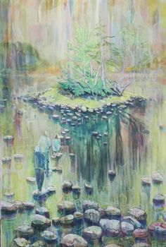 New Blood Art | Stepping Stones – (The Isle is Full of Noises) by Sophie Baker | Buy Original Art Online | Artworks by Emerging Artists for Sale