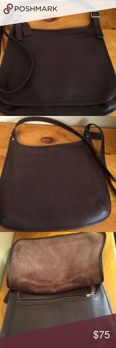 Coach Crossbody Saddle Mailbag Purse Hippie Flap Bags in great shape. Some wear on bottom corners. Coach Bags Crossbody Bags