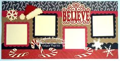 4 photo Christmas Believe Santa Boy Girl Baby 2 by TheScrapbookEmporium, $10.00
