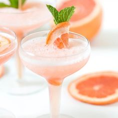 Rosé all day! This delicious Frozen Rosé Grapefruit Cocktail is the perfect summer sipper!