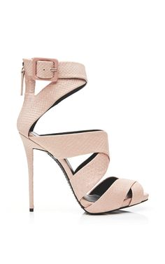 Coline Snakeskin Ankle Sandals by Giuseppe Zanotti Now Available on Moda Operandi