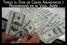 Afirma; Dios me creó y me sostiene en Abundancia y Prosperidad...sigue leyendo en http://katiuskagoldcheidt.com/dones-de-abundancia/