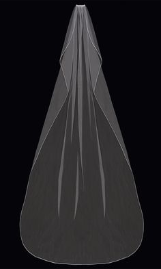 Cathedral Wedding Veil with Satin Cord Edge enVogue V63C Bridal Closet, Wedding Arbors, Cathedral Length Veil, Cathedral Wedding Veils, Short Veil, Vogue, Tulle, Dress Hats, Bridal Accessories