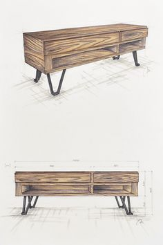 Handcrafted, bespoke, wooden tv table with metal legs. Reclaimed wood. Modern, rustic, industrial  table.