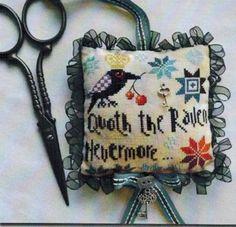 Raven Scissor Fob, The - Cross Stitch Pattern