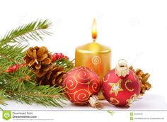 Christmas Balls And Golden Candle - Download From Over 35 Million High Quality Stock Photos, Images, Vectors. Sign up for FREE today. Image: 22246440