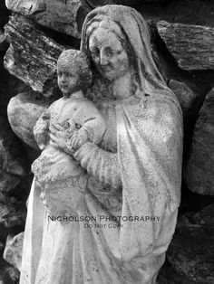 Statue of Mary and Jesus from St. Andrews Catholic Church, Mars Hill, NC.