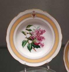 State dinner and dessert service of Ulysses S. Grant (President 1896-1877)--Soup Plate/Made in Limoges, France, Europe c.1870 or 1873. Made by Haviland et Cie, Limoges, France, 1842 - present. Imported by J. W. Boteler and Brother, Washington, D.C., 1867 - 1881. Porcelain with printed, enamel, and gilt decoration. Diameter: 9 3/8 inches (23.8 cm)
