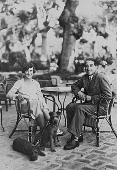 "Tennis player René Lacoste was nicknamed ""the crocodile"" because of his determination on the court. He introduced the now ubiquitous Lacoste tennis shirt, with an embroidered crocodile on the chest, in 1929. One year later, he married golf champion Simone de la Chaume, with whom he is pictured lounging in the southwest city of Biarritz, France, January 1929.    - TownandCountryMag.com"