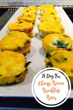 21 Day Fix Cheesy Bacon Breakfast Bites | Confessions of a Fit Foodie