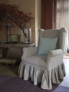 Upholstered Chair | Both Tailored and Fancy | Content in a Cottage